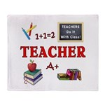 Teachers Do It With Class Throw Blanket