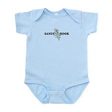 Sandy Hook NJ - Map Design Infant Bodysuit