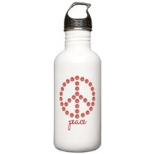 Peace Red Water Bottle