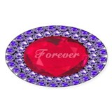 Forever Ruby Heart Decal