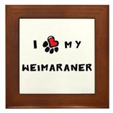 I *heart* My Weimaraner Framed Tile