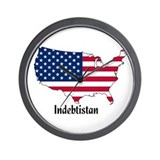 Indebtistan Wall Clock