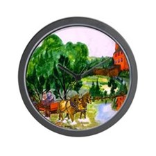 Horse and Buggy Wall Clock