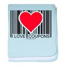 I Love Coupons baby blanket