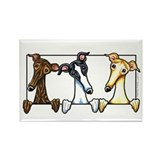 Greyhound Lover Rectangle Magnet