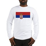 Flag of Serbia Long Sleeve T-Shirt