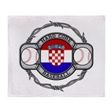Croatia Baseball Throw Blanket