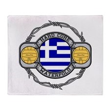 Greece Water Polo Throw Blanket