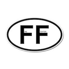 FF - Fire Fighter 22x14 Oval Wall Peel