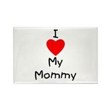I Love My Mommy Rectangle Magnet (10 pack)