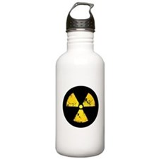 Distressed Radiation Symbol Sports Water Bottle