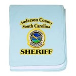 Anderson Sheriff Aviation baby blanket