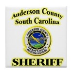 Anderson Sheriff Aviation Tile Coaster