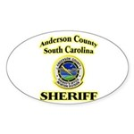 Anderson Sheriff Aviation Sticker (Oval)