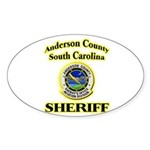 Anderson Sheriff Aviation Sticker (Oval 50 pk)