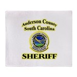 Anderson Sheriff Aviation Throw Blanket