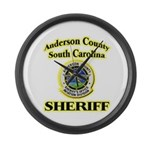 Anderson Sheriff Aviation Large Wall Clock