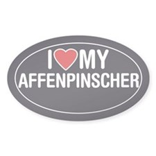 I Love My Affenpinscher Oval Sticker/Decal