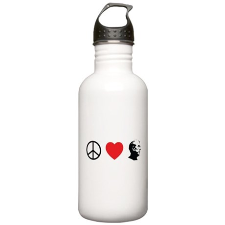 Peace Love Ron Paul Stainless Water Bottle 1.0L