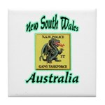 NSW Police Gang Task Force Tile Coaster