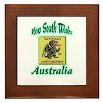 NSW Police Gang Task Force Framed Tile