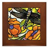 Dragonfly Framed Tile