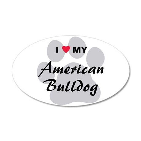 American Bulldog 22x14 Oval Wall Peel