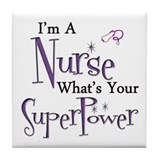 Funny Super registered nurse Tile Coaster