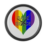 Safe Space In Heart Large Wall Clock