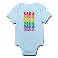 Rainbow Name Infant Bodysuit