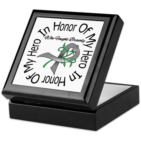 Brain Tumor Hero Keepsake Box