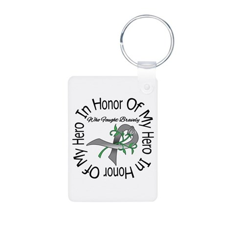 Brain Tumor Hero Aluminum Photo Keychain