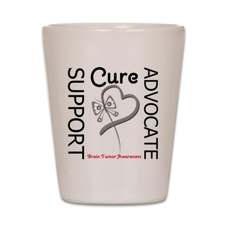 Brain Tumor Support Shot Glass
