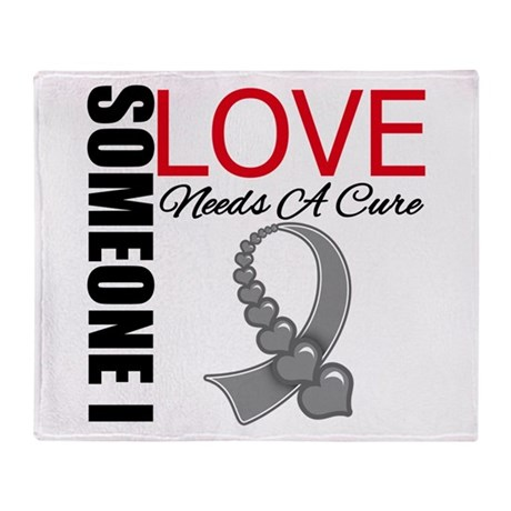 Brain Tumor Needs A Cure Throw Blanket