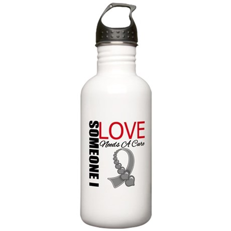 Brain Tumor Needs A Cure Stainless Water Bottle 1.