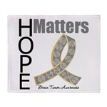 Brain Tumor Hope Matters Throw Blanket