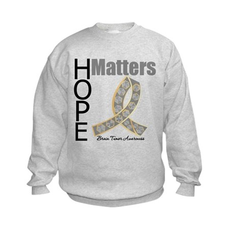 Brain Tumor Hope Matters Kids Sweatshirt