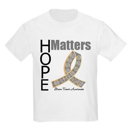 Brain Tumor Hope Matters Kids Light T-Shirt
