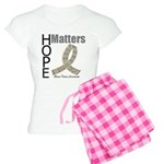 Brain Tumor Hope Matters Women's Light Pajamas