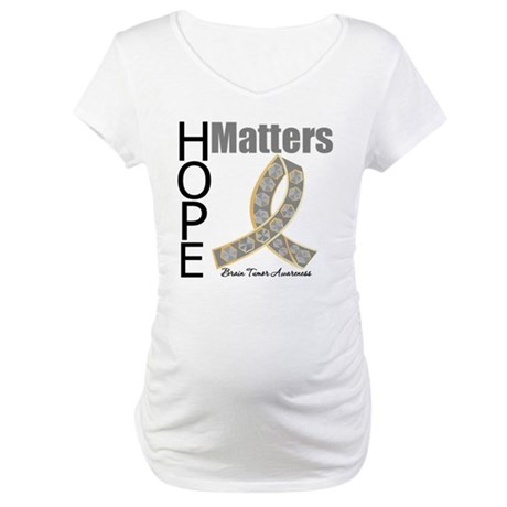 Brain Tumor Hope Matters Maternity T-Shirt