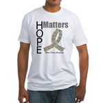 Brain Tumor Hope Matters Fitted T-Shirt