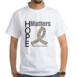 Brain Tumor Hope Matters White T-Shirt