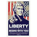 Jefferson Liberty Large Poster