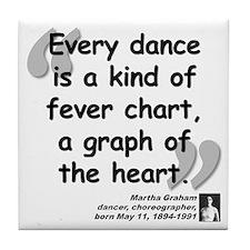 Graham Dance Quote Tile Coaster