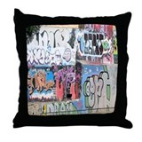MULTI-GRAFFITI WALL Throw Pillow