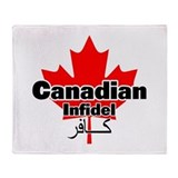 Canadian Infidel Throw Blanket