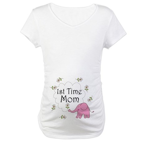 Cute 1st Time Mom Maternity T-Shirt
