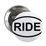 "RIDE - Motorcycle/Bicycle Rider 2.25"" Button"