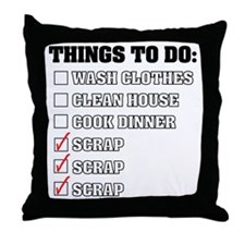 Things To Do: Black Throw Pillow
