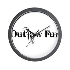 Outlaw Fur Wall Clock